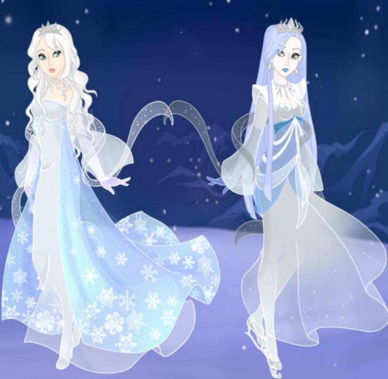 Ms Snow and Lady Ice
