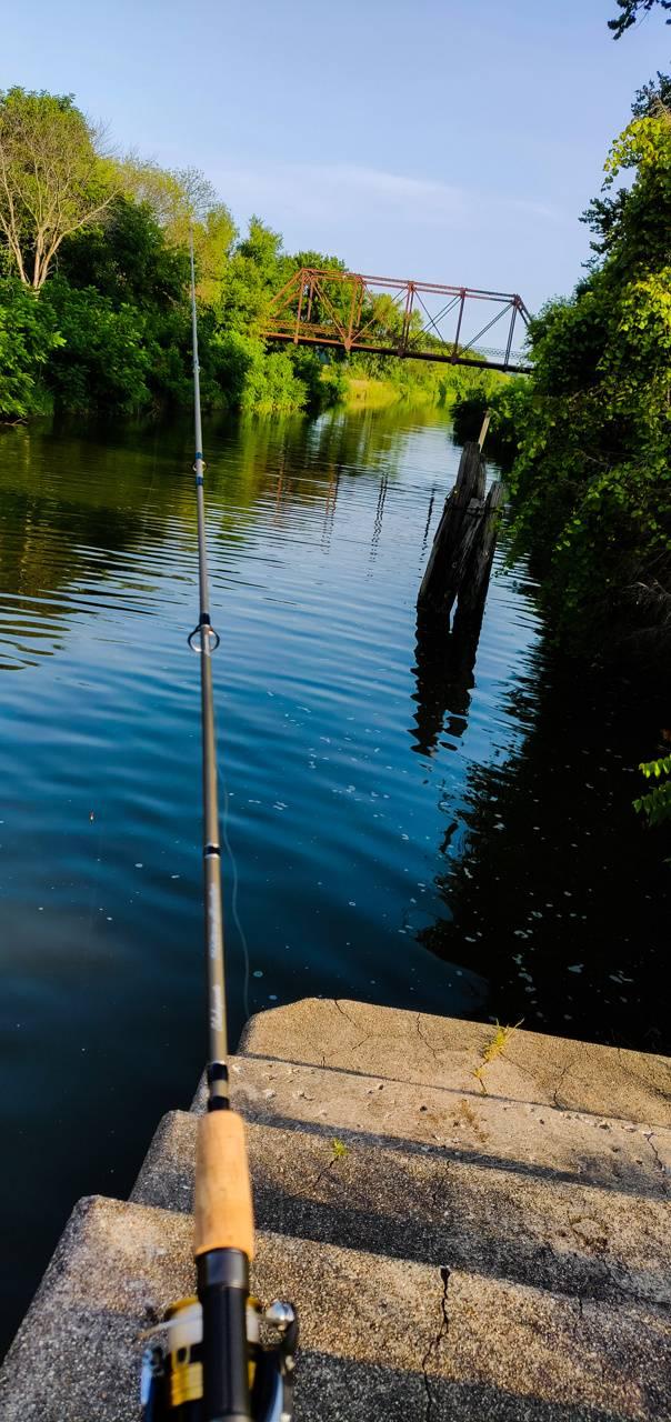Fishing on the Lock