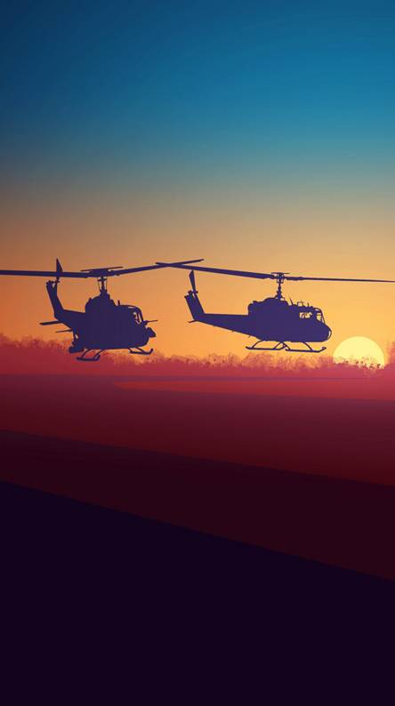 two helicopters