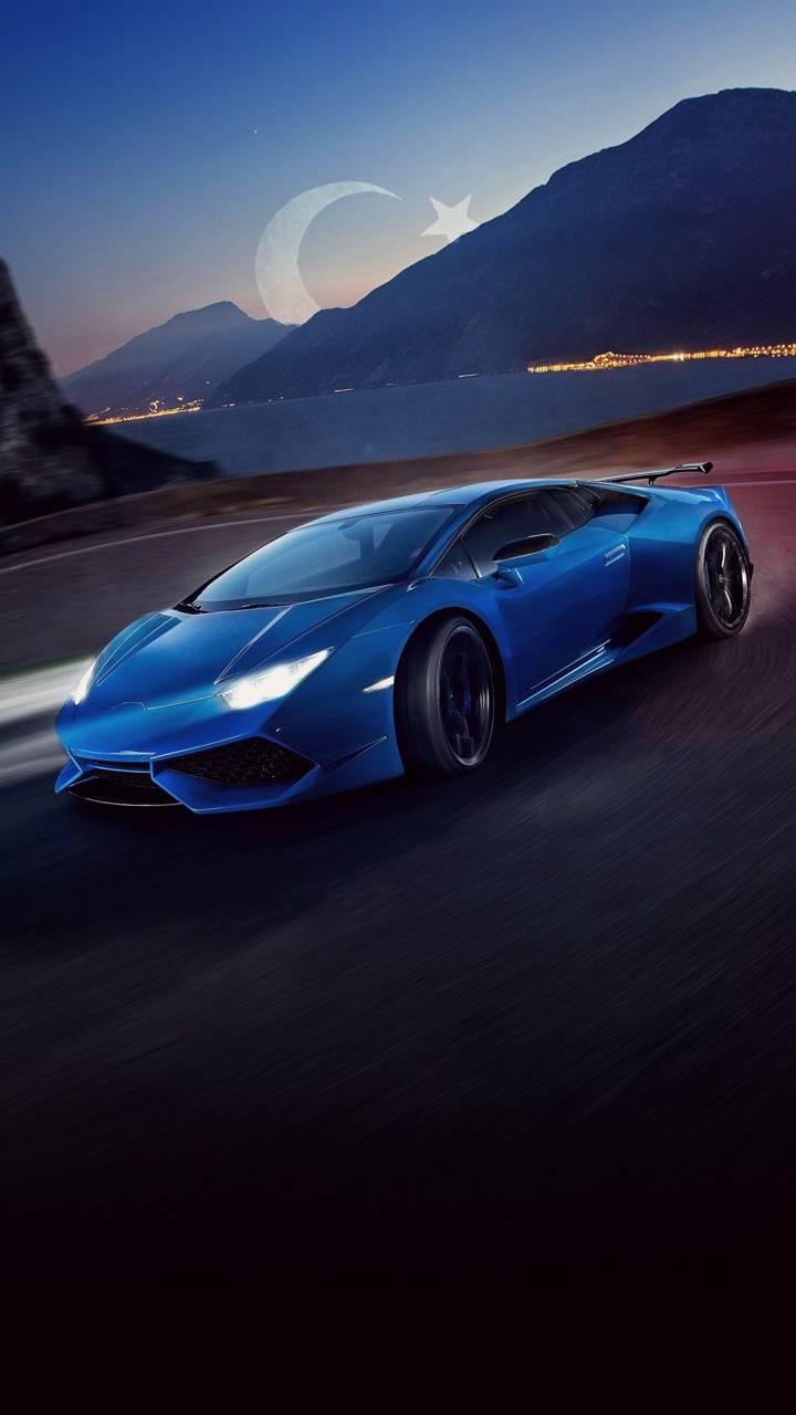Lamborghini with sky