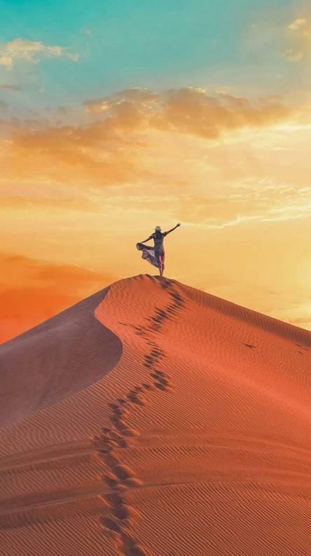 Girl in the desert