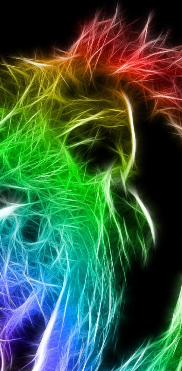 Fractal Lion color