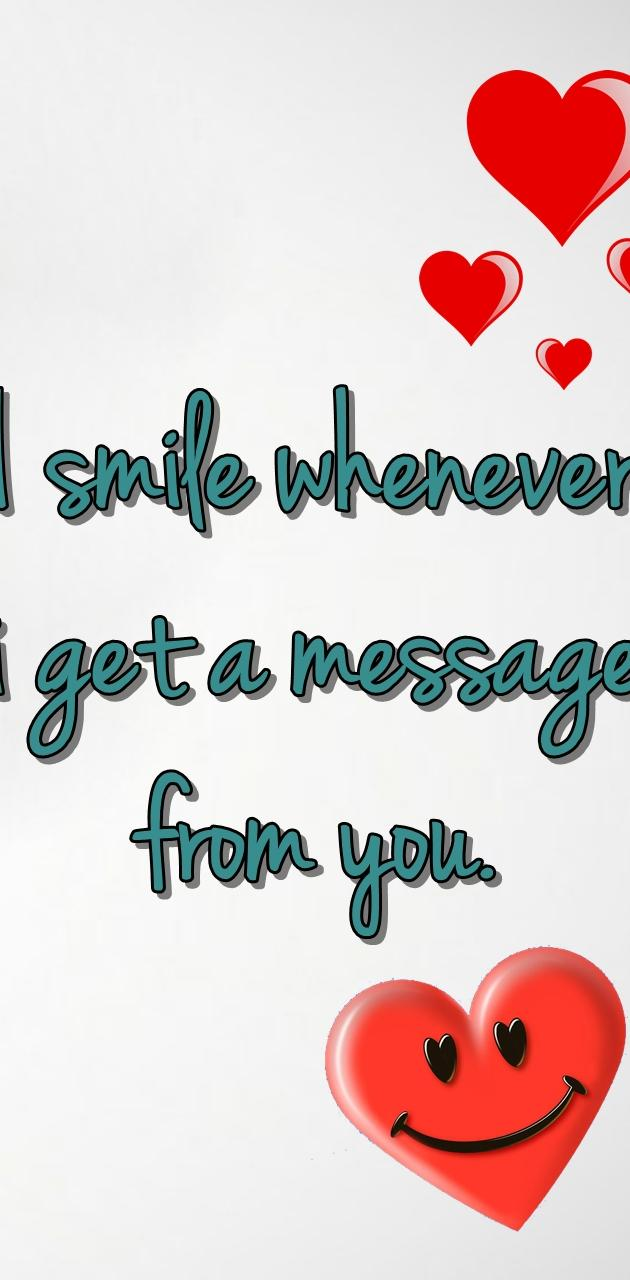 message from you
