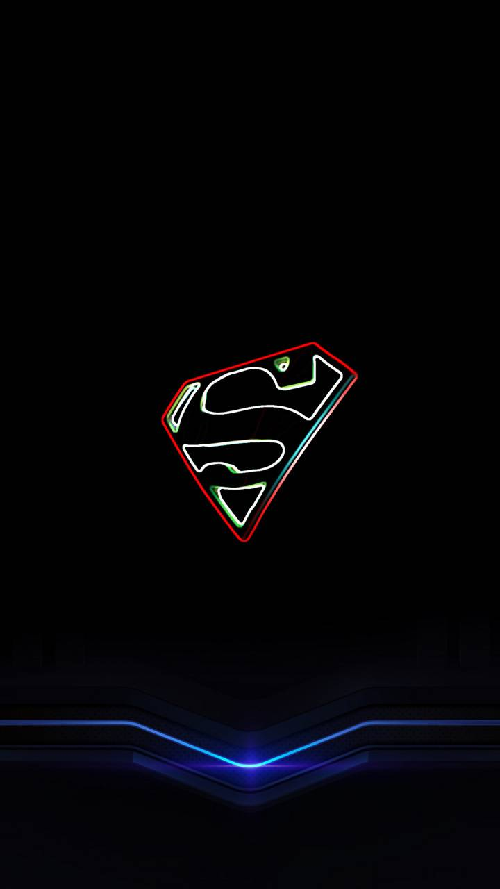 Superman Logo Neon