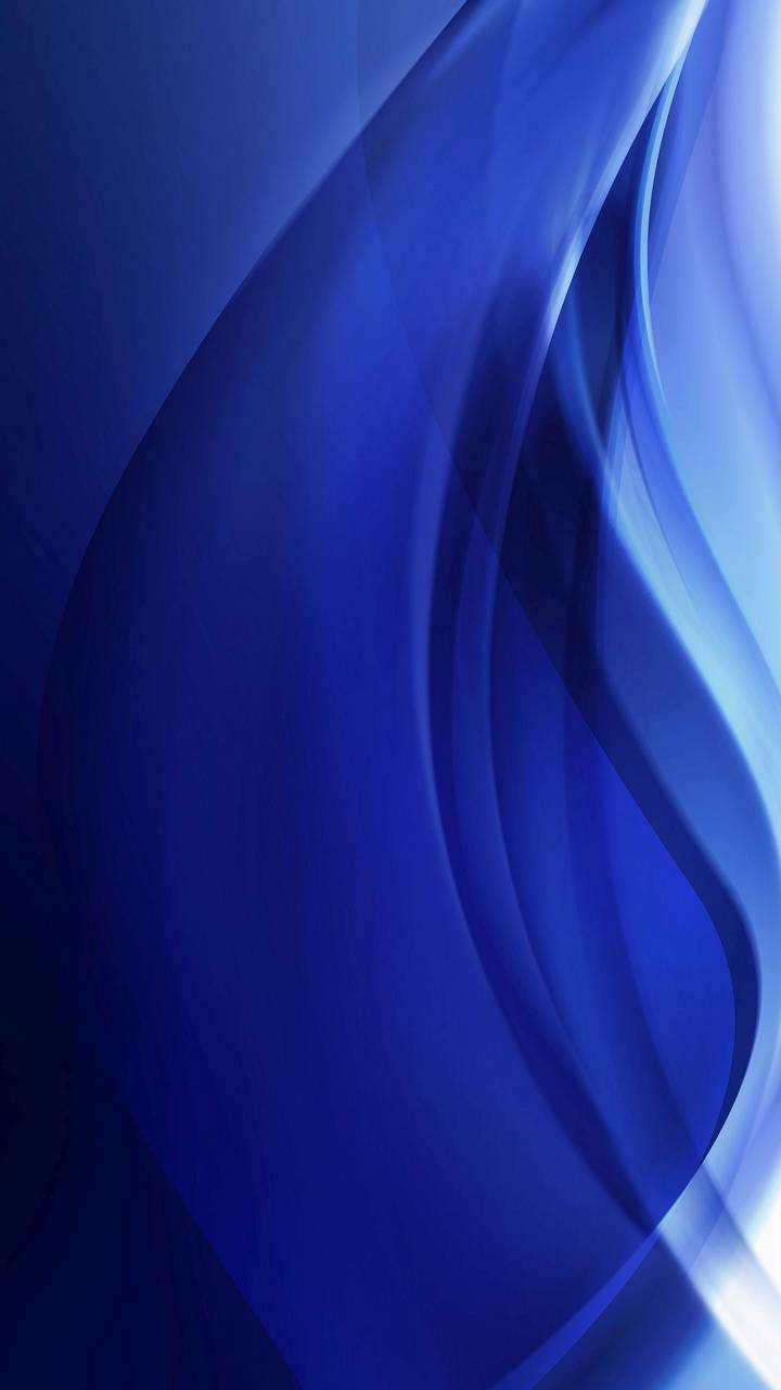 Blue White Abstract
