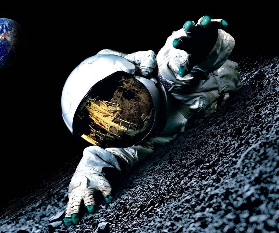 Space Moon Earth
