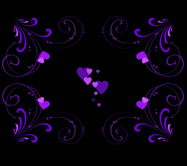 Lovely Purple Hearts