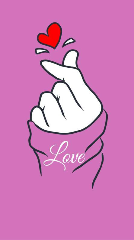Korean love sign