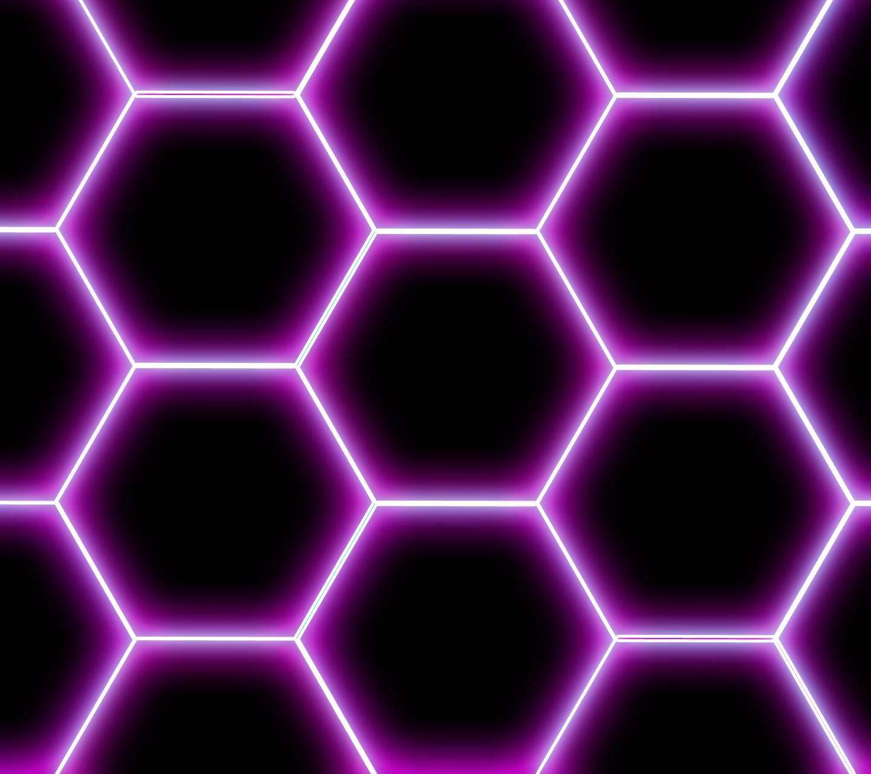 Neon Hex - Pink