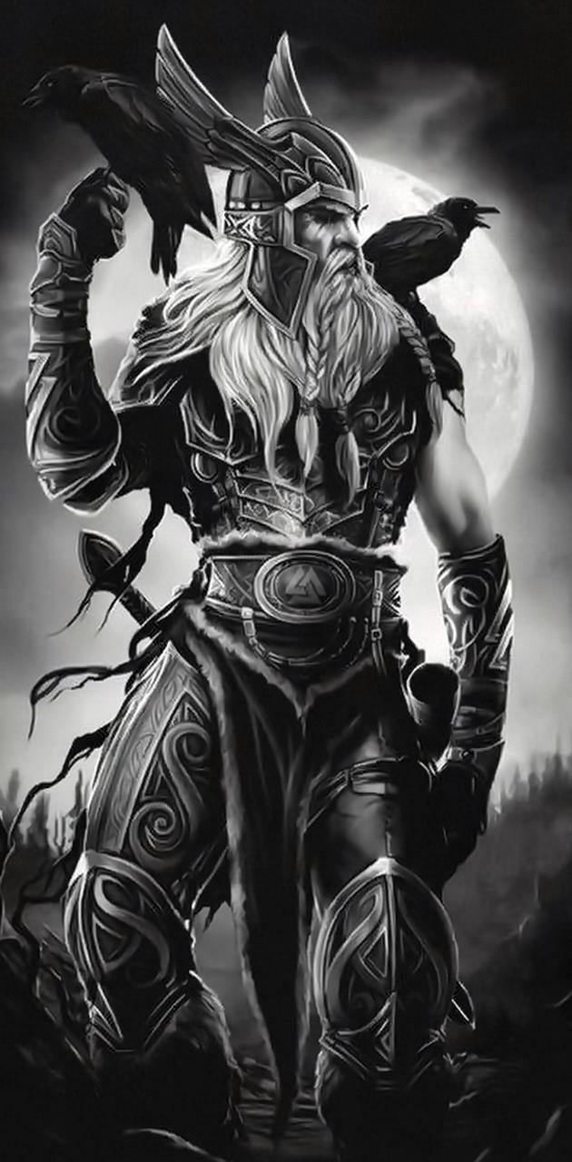 Odin and his ravens