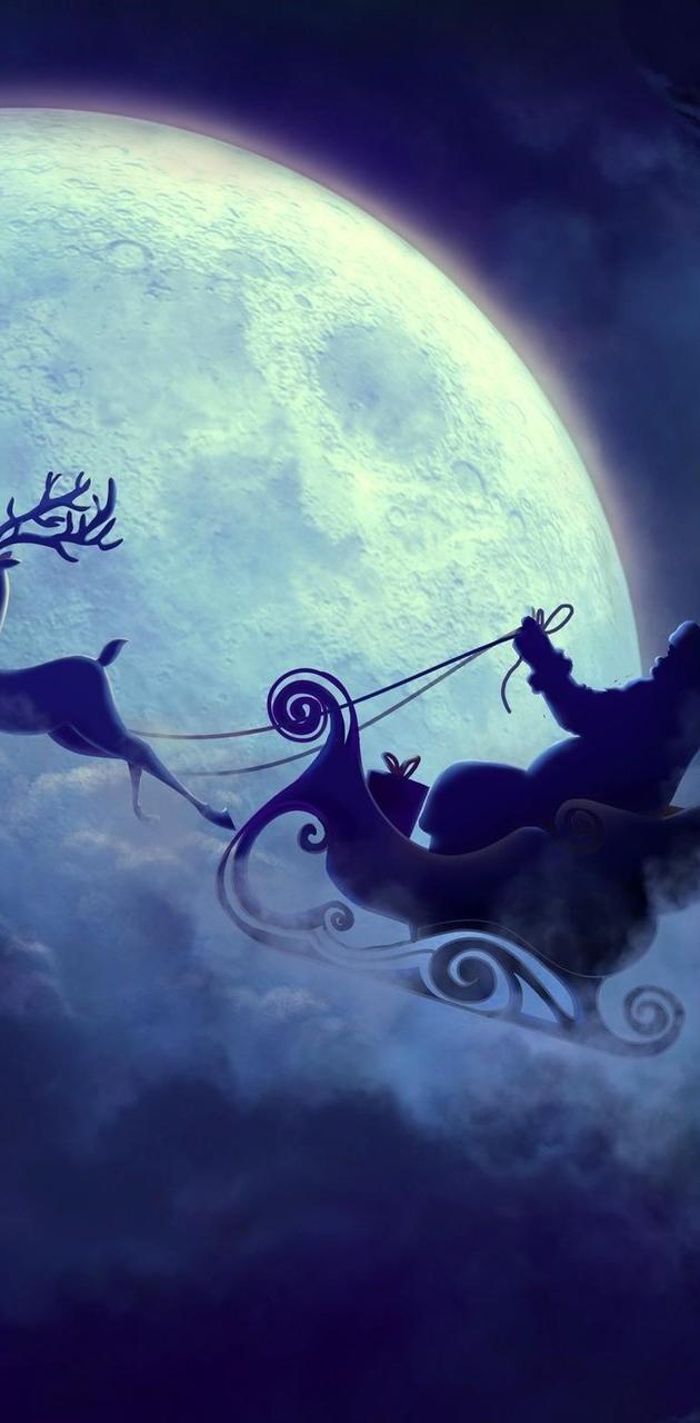 santa-claus-moon