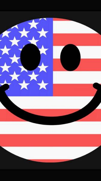 American Flag Smiley