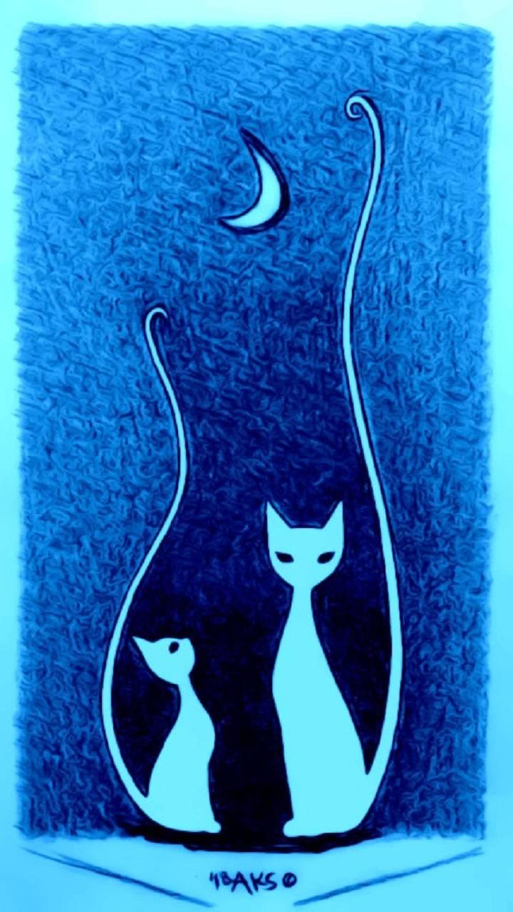 Moon Kitties Art