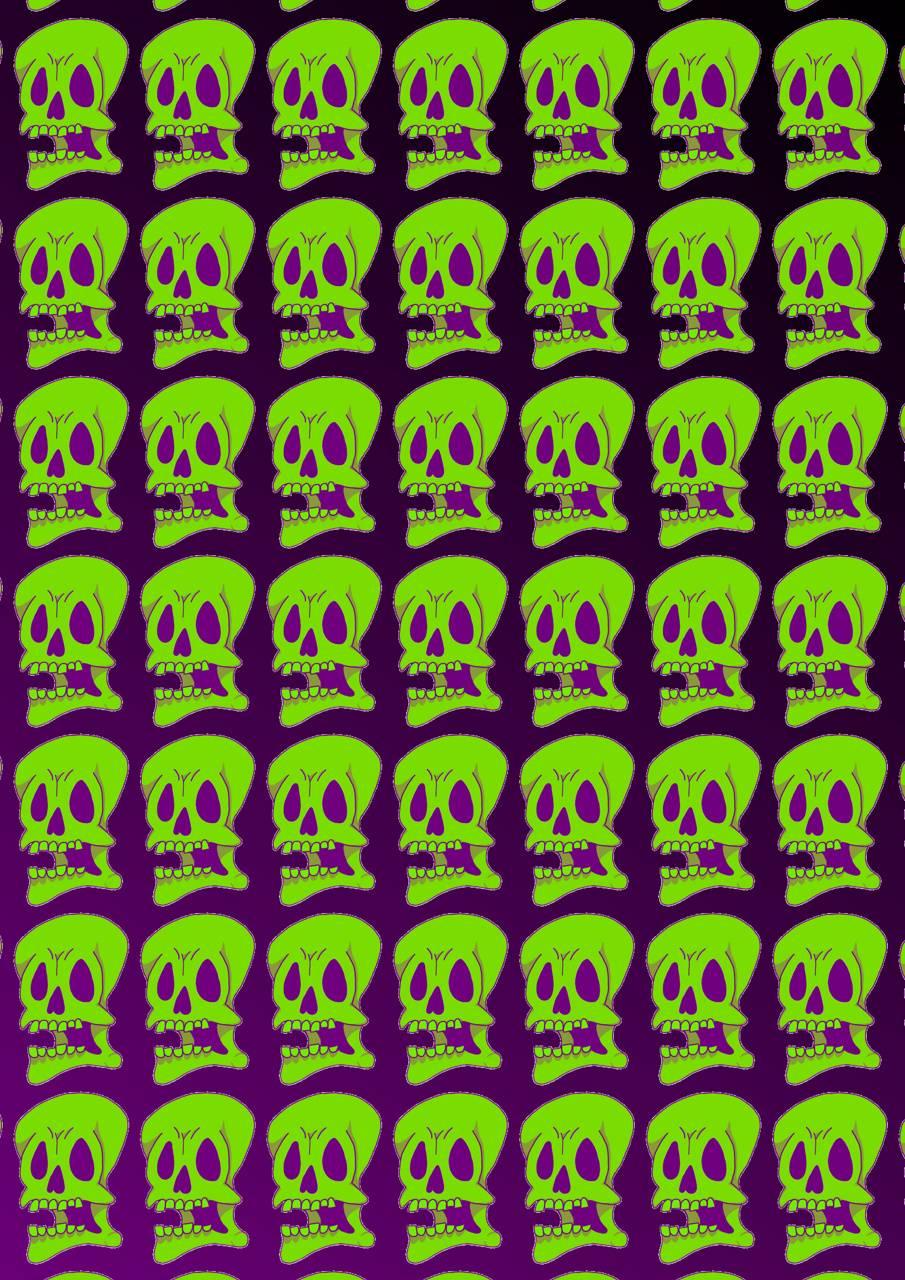 Green tile skull