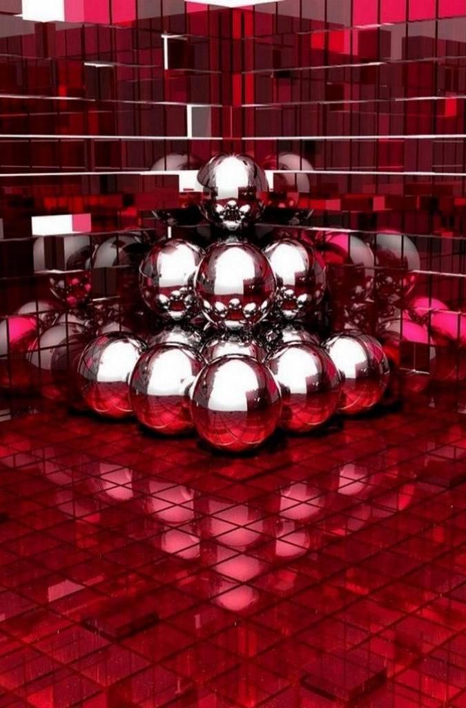 Red 3d Ball