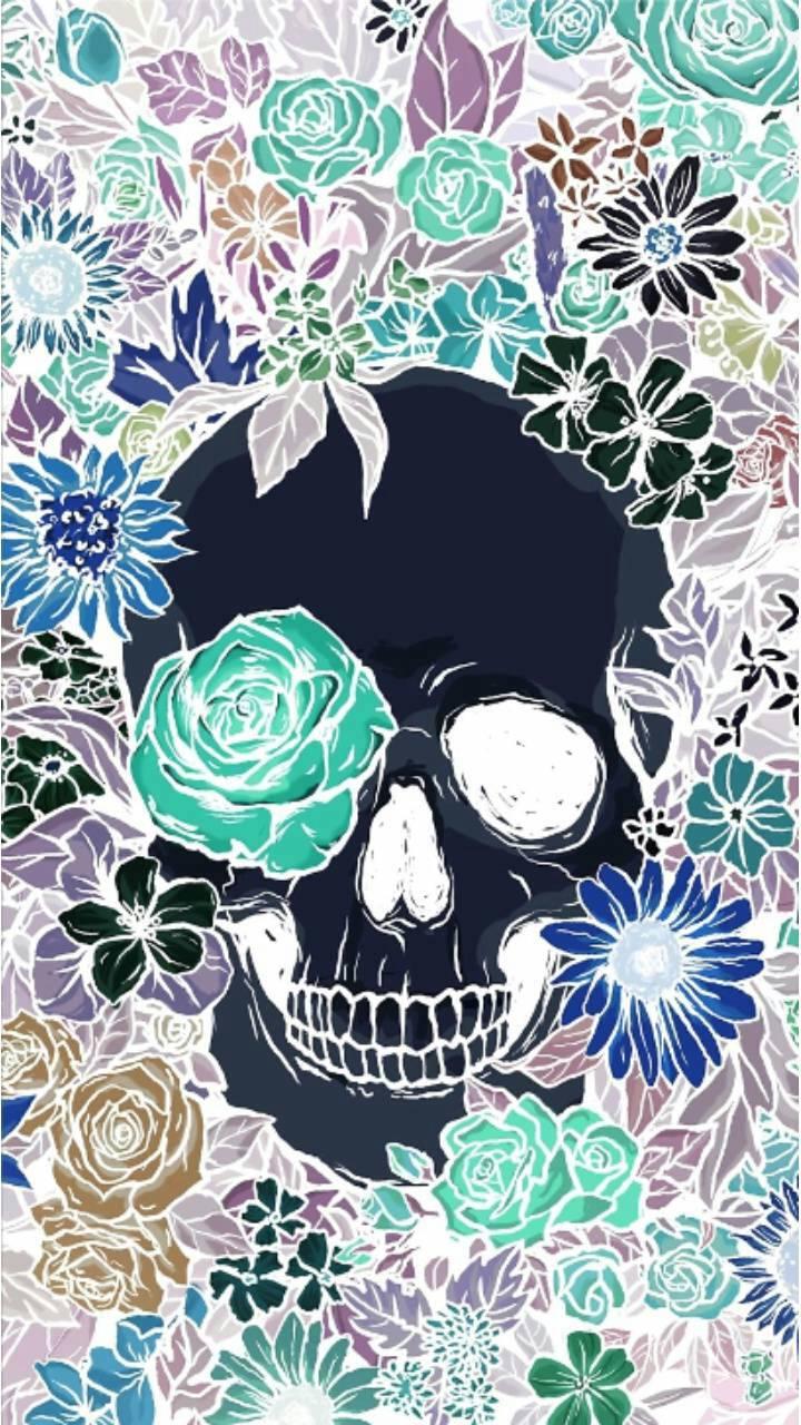 Flower Skull Wallpaper By Sarahlane420 2f Free On Zedge