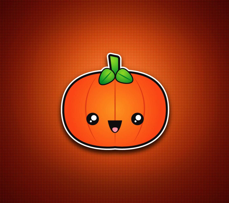 Cute orange pumpkin