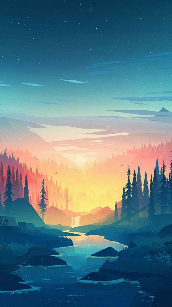 Woodsy sunset