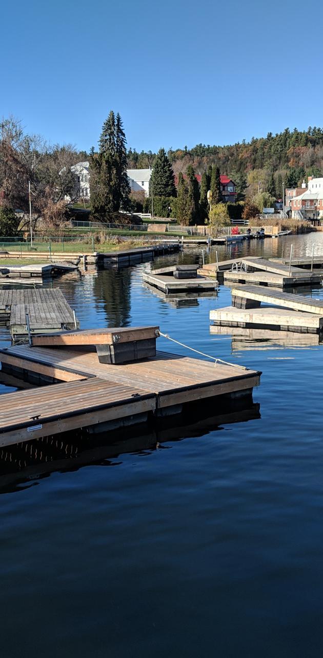 Docks in autumn