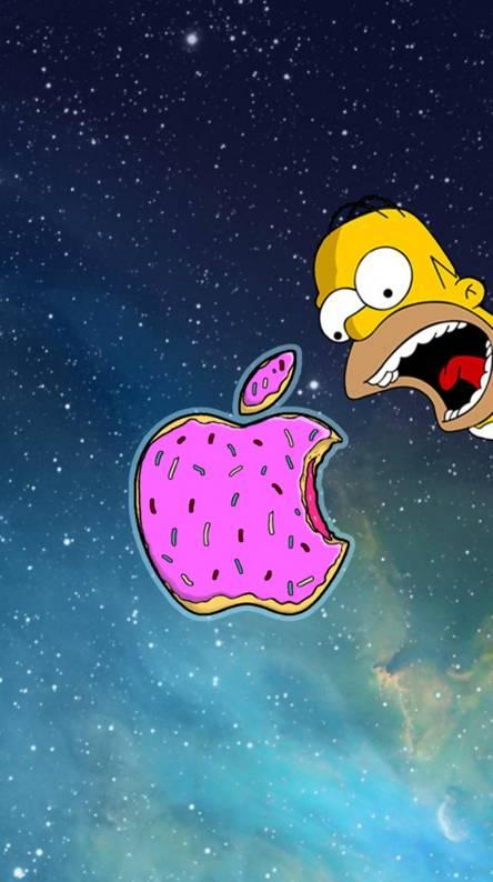 simpsons apple donut